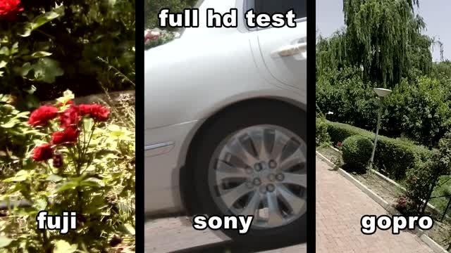 مقایسه سه دوربین -full hd - کی گفته فقط سونی دوربینه