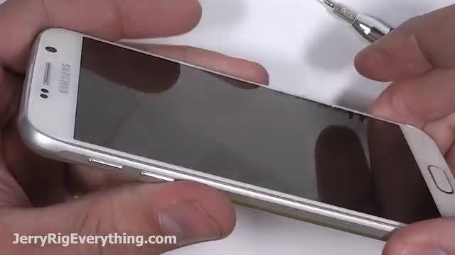 تست مقاومت Galaxy S6 ؛ خراشیدگی سوختگی تست خم شدن