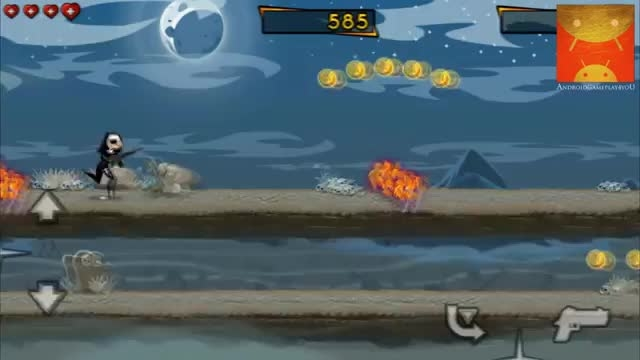 گیم پلی بازی اندرویدی Nun Attack: Run