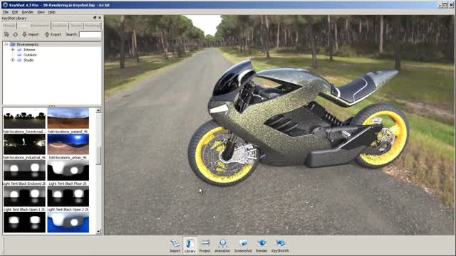 Modeling Advanced Surfaces to Create a Sci-Fi Motorcycl