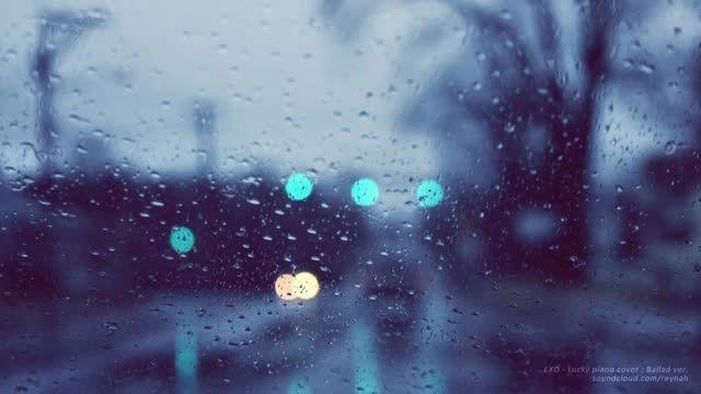 """""""(Lucky"""" Piano cover exo (Ballad ver. + Rain"""