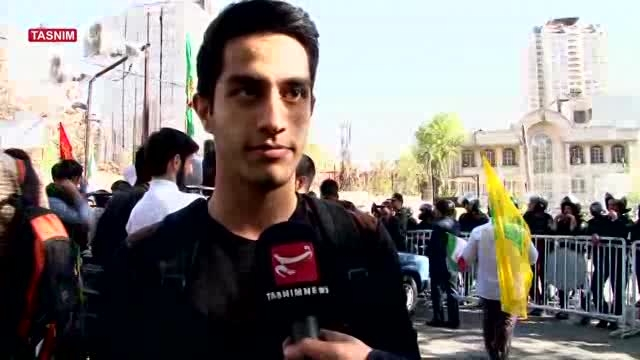 تجمع مقابل سفارت عربستان در اعتراض به جنایات آل سعود