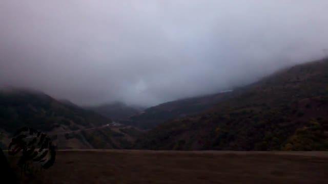 جاده زیبای چالوس در مه