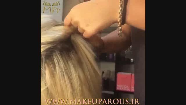 آموزش شینیون مو بسیار زیبا