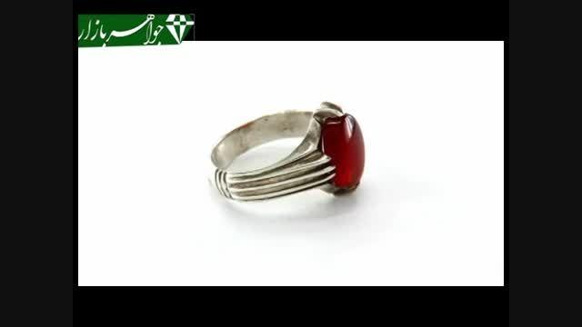 انگشتر عقیق یمنی دست ساز رکاب دست ساز - کد 6300