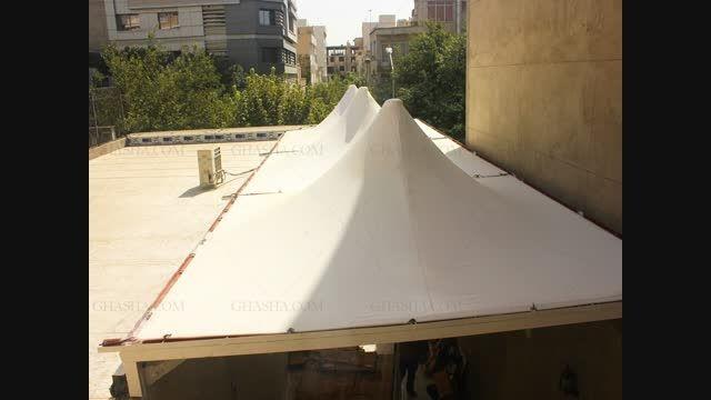 سقف پارکینگ چادری و پارچه ای - پارکینگ متحرک پارچه ای