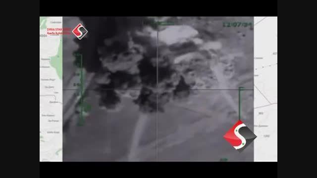 25 حمله به مواضع داعش درحومه حماه توسط جنگنده های روسیه