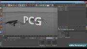 آموزش ساخت رویش گیاه به دور کلمه در Cinema 4D(قسمت اول)