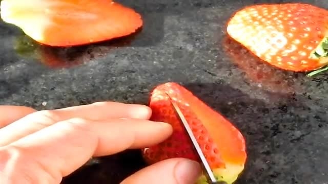 میوه آرایی توت فرنگی به شکل لاک پشت