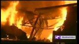 آتش سوزی کارخانه مشهد نخ در جاده شاندیز مشهد