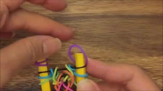 آموزش بافت دستبند فانی بافت راحت 3