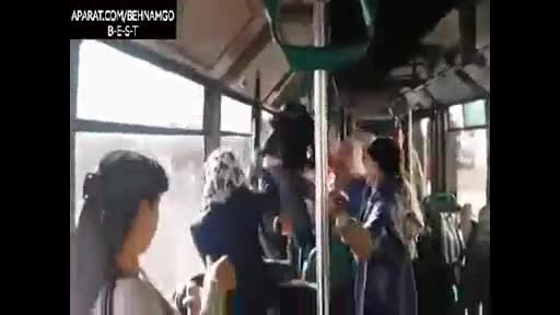 بزن بزن دختر و پسر در اتوبوس..!