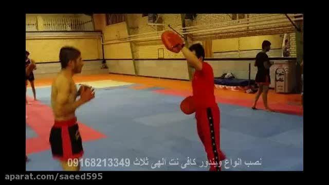 کیک بوکسینگ ثلاث باباجانی  فرحان میرزایی