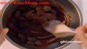 آموزش تزئینات با شکلات در روزمنو - بن ماری کردن شکلات