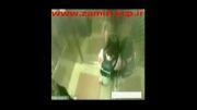 دختر کاراته کار دزدی رادر آسانسور لگدمال کرد