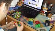 رکورد حل مکعب های روبیک 2 و 3 و 4 و 5 و 6 و 7 تایی