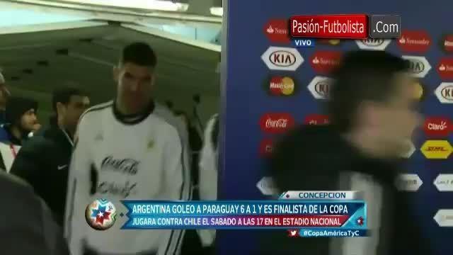 مصاحبه روخو پس از بازی مقابل پاراگوئه(کوپا آمریکا)