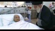 دیدار رهبر معظم انقلاب با ابوالشیهد حاج غلامحسین معلم