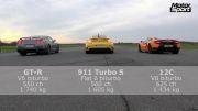 nissan gtr vs porsche 911 turbo s vs mclaren mp4 mso