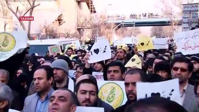 تجمع جلوی سفارت فرانسه و محکوم کردن توهین به پیامبر (2)