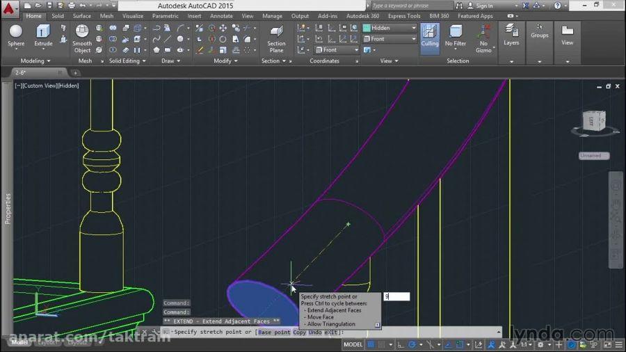 آموزش مدل سازی یک راه پله با AutoCAD