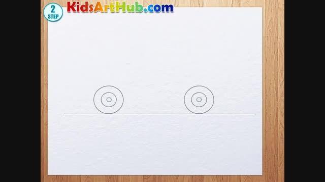 نحوه کشیدن نقاشی لامبورگینی