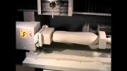 ماشین کاری بطری مایع ظرف شویی در cnc چهار محوره