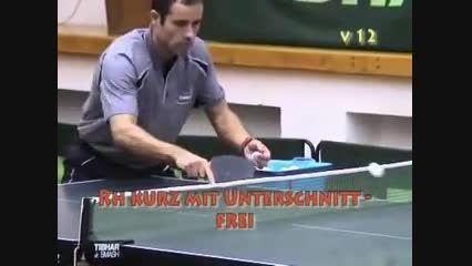 آموزش پینگ پنگ ، تمرین دادن با توپ زیاد در توپ اندازی