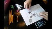 کشیدن نقاشی زیبا توسط دوست عزیز آذربایجانی(باکو)