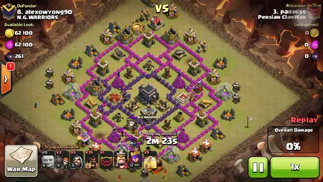Clash Of Clans- 3 star Attack town hall 9 GOHO
