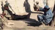 دعوای بین سرباز آمریکایی با سرباز افغانی!!!
