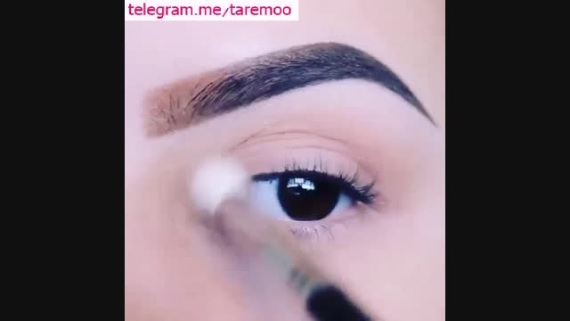 اموزش آرایش چشم دخترانه و ساده زیبا در تارمو