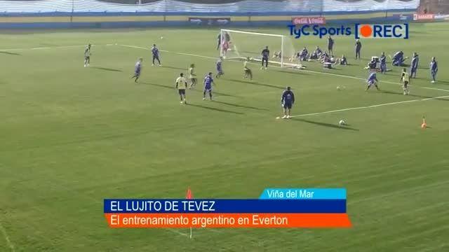 گل برگردون کارلوس توز در تمرینات تیم ملی آرژانتین