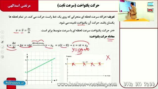 فیزیک۲-مبحث حرکت یکنواخت-مهندس اسدالهی-قسمت3