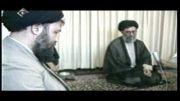 امام خامنه ای در خانه سید احمد خمینی