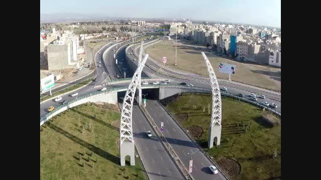 هلی شات تصویربرداری هوایی میدان نصرالله - شرکت هوابرد