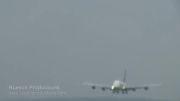 فرود ایرباس A380 و باد عرضی در سوییس 2010