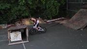 مهارت فوق العاده در دوچرخه سواری