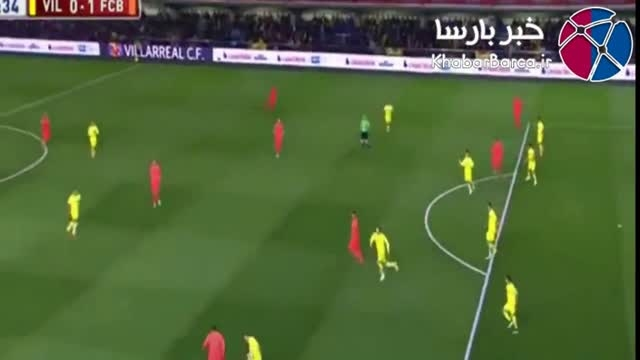 خلاصه بازی بارسلونا ویارئال