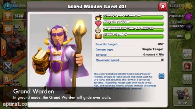 Clash of clans update town hall 11 grand warden part 1