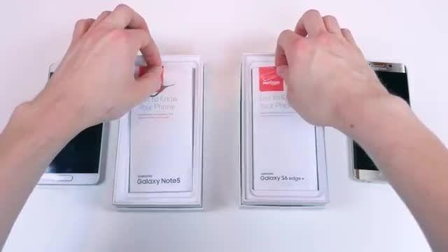 مقایسه گلکسی نوت 5 (note5) و گلکسی اس ۶ اج پلاس (edge+)