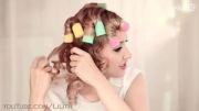 آموزش فر کردن مو برای موهای متوسط