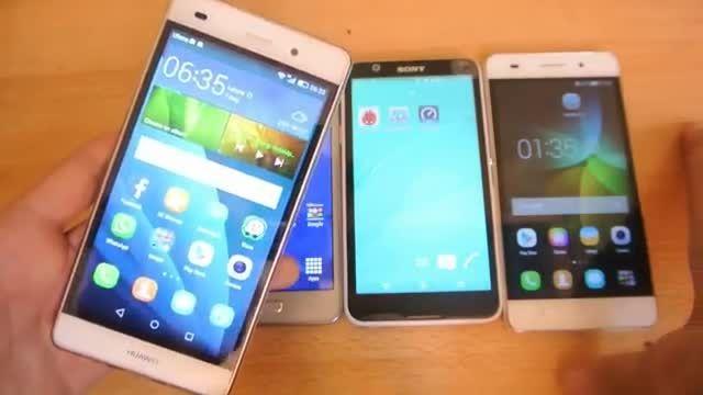 Samsung Galaxy Grand Prime vs Sony Xperia E4 vs Huawei
