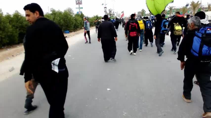 پیاده روی عظیم حسینی از نجف تا کربلا _ اربعین 94