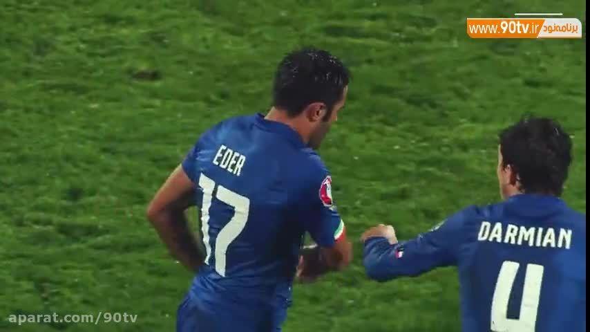 سوپرگلهای دیدنی ایتالیا و بلژیک در مقدماتی یورو ۲۰۱۶