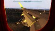 فرود بسیار زیبا در فرودگاه اتاترک واقعیت یا بازی!!!!!!!
