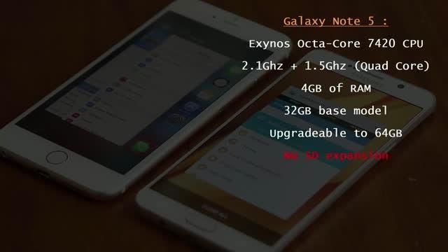 iPhone 6S Plus vs Samsung Galaxy Note 5 Full Comparison