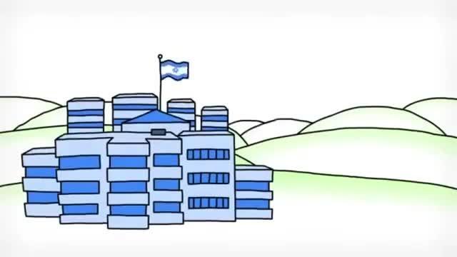 معرفی اسرائیل و فلسطین به صورت انیمیشنی