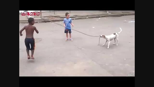 سگ هم طناب بازی بلد است فیلم کلیپ گلچین صفاسا