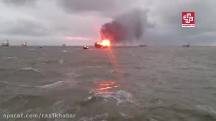 آتش سوزی در چاه نفتی جمهوری آذربایجان 32 کشته داشت